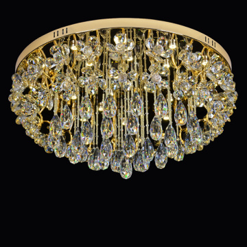 pencahayaan crystal chandelier champagne mini