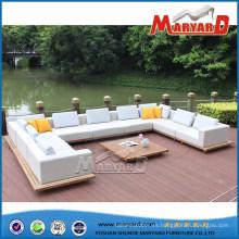 Sofá tapizado moderno al aire libre de la tela fijado