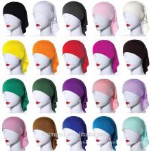 Ropa de moda mujeres musulmanas modales gorra de oración casquillo musulmán interior