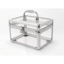 Boîtier en aluminium acrylique transparent
