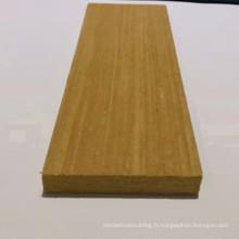 Bois de teck reconstitué en bois de teck d'ingénierie mouluré