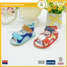 2015 summer cotton fabric barefoot gladiator baby sandal
