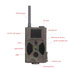 12MP Antena Infravermelho Night Vision Caça Câmera GSM MMS GPRS E-mail / SMS Preto IR