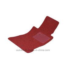 Car Mat Flat Foot Loop Pile PP Fiber Carpet Black Red