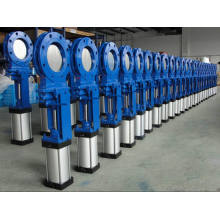 Pneumatic Wafer Type Slurry Knife Gate Valve (PZ673X)