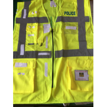 Healthy European Man's Police Vest