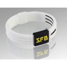 Цветной печатный подарок Рекламный силиконовый браслет