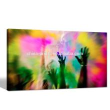 Abstrait Photo de fête Impression giclée / toile contemporaine Applique murale / Toile encadrée Dropship
