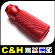 Red Anodized Aluminum 6061 Parts CNC Turning Lathe Machining Service