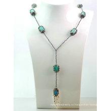 Новый дизайн ювелирных DIY Гематит природных Gemstone бирюзовый ожерелье кулон