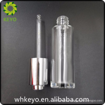 30ml beard balm clear cosmetic container glass bottle with press dropper
