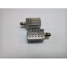 F female connector with metal cover