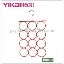 PVC coated space saving scarf hanger
