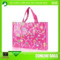 Blumendruck-Einkaufstasche (KLY-PP-0403)