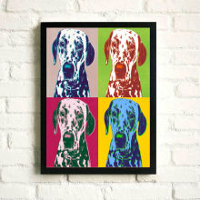 Dogs Printed Fabric Pop Arts