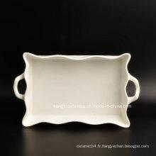 Plaque de dîner en porcelaine