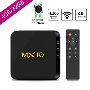 Android TV Box 8.1 Oreo Streaming de mídia de 4G / 32GB