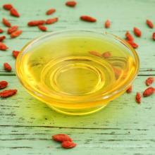 Prix de gros anti-cancer fonction fraîche huile de baies de goji