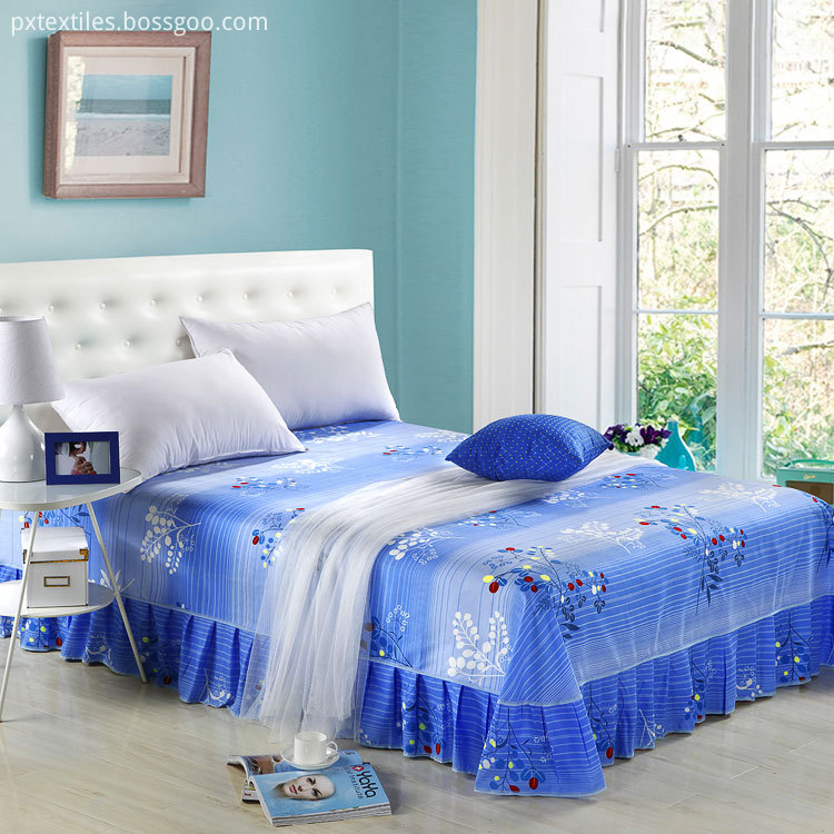 100% Polyester Printed Bed Skirt