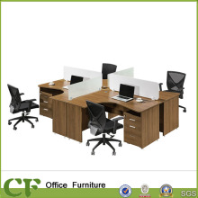 4 person work station staff workshop table for cross style furniture