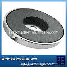 2015 new hot sale cap magnet/ ferrite magnet with hole