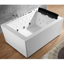 Прямоугольная гидромассажная ванна с гидромассажем
