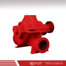 Pompe à eau centrifuge à enveloppe divisée pour le feu