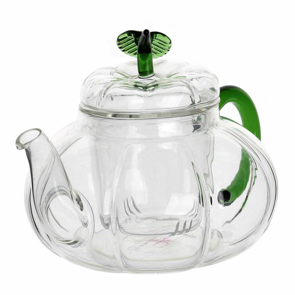 Flower Glass Teapot Infure
