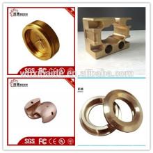 OEM de cobre cnc piezas de mecanizado / cnc torneado de mecanizado de piezas de cobre / CNC grandes piezas de mecanizado