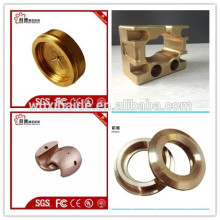OEM copper cnc machining parts/cnc turning machining copper parts /large cnc machining parts