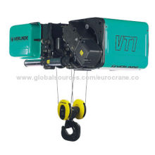 Electric wire rope hoist with IP55 motor