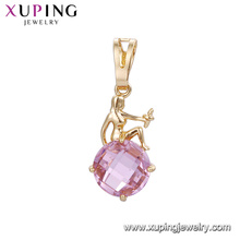 32866 Hot sale elegant women jewelry goddess design circle shaped colorful gemstone pendant