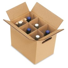 China for China Bottle Paper Packaging Cartons,Bottle Boxes With Dividers,Beer Bottle Packaging,Brown Cardboard Box With Holed Platform Factory Cardboard 6 bottles wine boxes with separating grid export to Kyrgyzstan Manufacturers