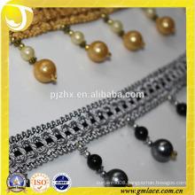 shinning fringe pakistan swords bead tassel fringe in stock