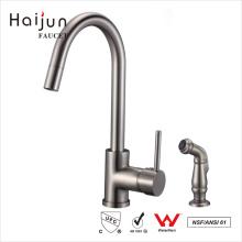 Haijun Los mejores productos de una manija de cuello largo de latón lavabo agua de la cocina grifo
