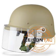 Tactical Riot Helmet con ABS Material de fuerte vibración-prueba
