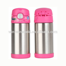 Manufacturer Chlidren Stainless Steel Unbreakable Cute Vacuum Bottle With Straw