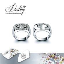 Destino joyería cristal de Swarovski anillo de Cc