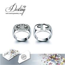 Судьба ювелирные изделия кристалл Swarovski кольца Cc кольцо