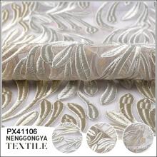 Oem moda malha suave bordado tecido vestido de noite