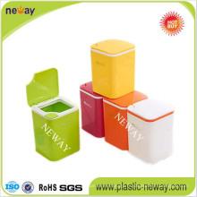 Nouvelle poubelle colorée de rebut de poubelle de ménage de conception fraîche pour des ordures