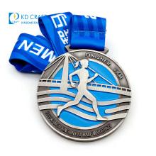 Wholesale custom metal riding medal funrun 5k races cycling medallions coin sports antique silver marathon medallion