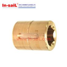 Parte girando do CNC de acessórios de cobre