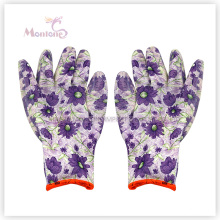 13gauge Nitrile Dipped Polyester Women Safety Work Gloves for Gardening