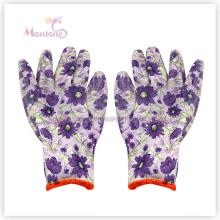 13gauge Окунутый Нитрил полиэфира женщин работа защитные перчатки для садоводства