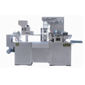Star shape tablet blister packing machine