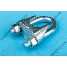 Matériel de gréement de pince de câble métallique malléable