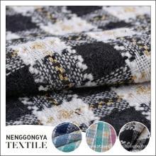 Tipos diferentes personalizados do tecido slub poli do vestido tecido