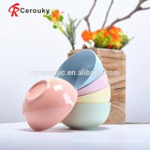 Bunte glänzende Oberfläche Keramik Suppe Schüssel