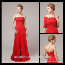 6813 Cheap off-the-shoulder two piece evening dress long lace turkish evening dresses wholesale